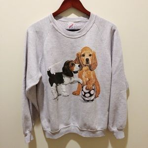 Vintage puppy dog Crewneck
